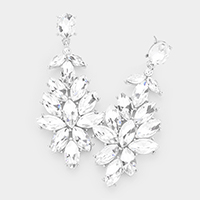 Crystal Marquise Cluster Evening Earrings