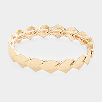 Hammered Multi Rhombus Stretch Bracelet