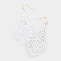 Filigree Metal Dangle Earrings