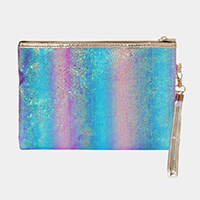 Shimmery Multi Colored Pouch Bag