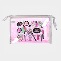 'You Are Amazing' Cosmetics Print Hologram Pouch Bag