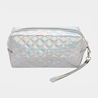 Metallic Quilted Pouch Bag