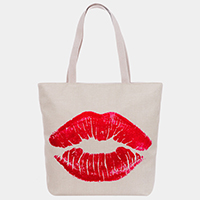 Kiss Print Tote Bag