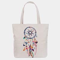 Feather Print Tote Bag