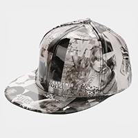 Mixed Magazine Print Patent Baseball Cap