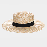 Ribbon Trim Floppy Sun Hat
