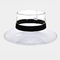 Ribbon Trim Transparent Bucket Hat
