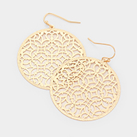 Filigree Brass Metal Earrings