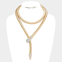 Crystal Embellished Snake Collar Magnetic Necklace