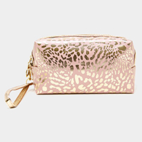 Metallic Leopard Pouch Bag