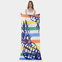 Pineapple Print Rectangle Beach Towel