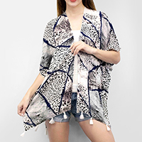 Amazon Jungle Open Kimono Cardigan