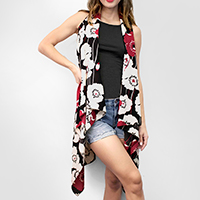 Simply Flower Scarf Vest