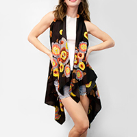 Sunflower Scarf Vest