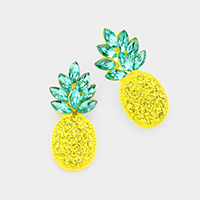 Crystal Marquise Cluster Pineapple Post Earrings