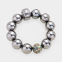 Metal Ball Stretch Bracelet