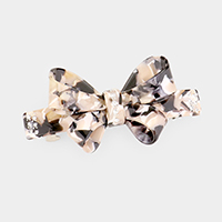 Crystal Embellished Celluloid Acetate Bow Barrette