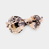 Crystal Embellished Bow Barrette