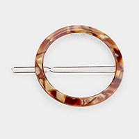 Celluloid Acetate Cut Out Round Barrette