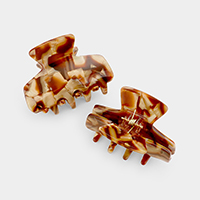 2PCS - Tortoise Hair Claw Clips