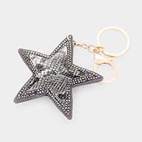 Star Snake Faux Leather Charm Key Chain