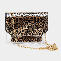 Clear Leopard Crossbody Bag