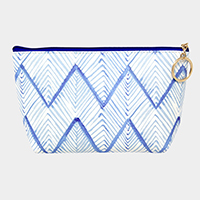Chevron Pattern Pouch Bag