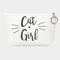'Cat Girl' Pattern Pouch Bag