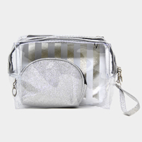 3PCS - Striped Pouch Bag Set