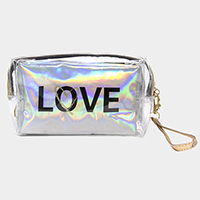 2PCS - 'Love' Hologram Pouch Bag Set