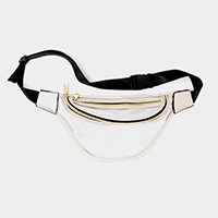 Clear Solid Trim Fanny Pack