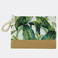 Tropical Leaves Pouch Bag