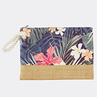 Tropical Flower Pouch Bag