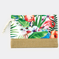 Tropical Flamingo Pouch Bag
