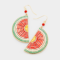 Thread Watermelon Metal Dangle Earrings