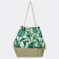 Tropical Leaves Bucket Bag