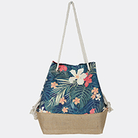 Tropical Flower Bucket Bag