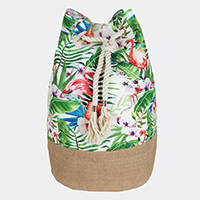 Tropical Flamingo Backpack Bag