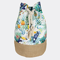 Tropical Leaves Parrot Backpack Bag