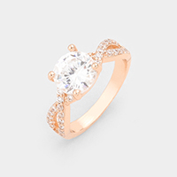 Gold Dipped Cubic Zirconia Ring