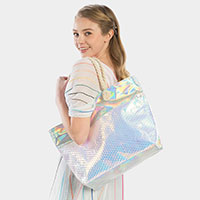 Iridescent Beach Tote Bag