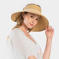 Bow With Band Roll Visor Sun Hat