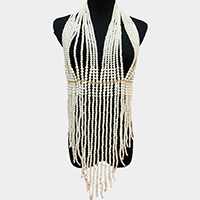 Pearl Tassel Body Chain Statement Necklace