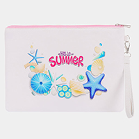 'Hello Summer' Sea Life Pouch / Clutch Bag