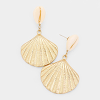 Metal Shell Dangle Earrings
