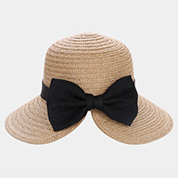 Bow With Band Straw Sun Hat