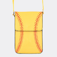 Softball/Baseball Touch View Cell Phone Cross Bag