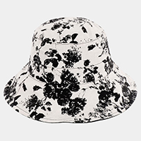 Reversible Floral Pattern Cotton Bucket Hat