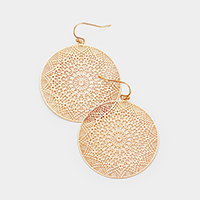 Metal Filigree Round Dangle Earrings