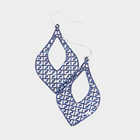 Paint Splash Geometric Metal Filigree Earrings